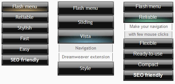 Vista Sliding Menu
