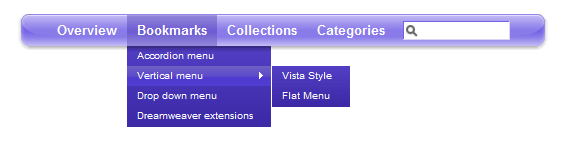 Yahoo Style Menu
